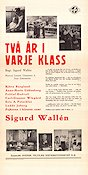 Tv� �r i varje klass 1938 Movie poster Sigurd Wall�n