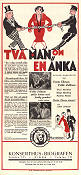 Tv� man om en �nka Poster 30x70cm NM original