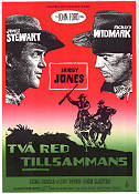 Two Rode Together 1961 Movie poster James Stewart John Ford
