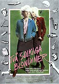 Två solkiga blondiner 1984 Movie poster Maria Johnsson