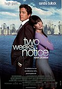 Two Weeks Notice 2002 Movie poster Hugh Grant