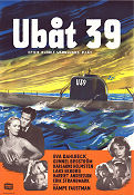 Ubåt 39 1952 Movie poster Eva Dahlbeck
