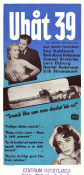 Ub�t 39 1952 Movie poster Eva Dahlbeck