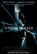 Unbreakable 2000 Movie poster Bruce Willis