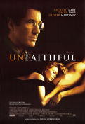 Unfaithful 2002 Movie poster Richard Gere Adrian Lyne