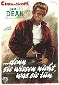 Rebel Without a Cause 1956 poster James Dean Nicholas Ray