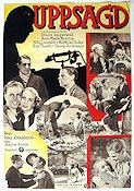 Uppsagd 1934 Movie poster Sture Lagerwall