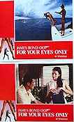 For Your Eyes Only 1981 lobby card set Roger Moore John Glen