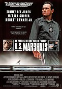 US Marshals 1998 Movie poster Tommy Lee Jones