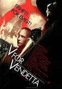 V for Vendetta 2005 Movie poster Natalie Portman Andy Wachowski