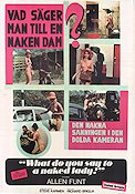 What Do You Say To a Naked Lady 1970 Movie poster Allen Funt