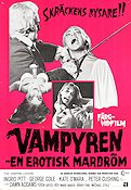 The Vampire Lovers 1970 Movie poster Ingrid Pitt Roy Ward Baker