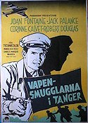 Flight to Tangier 1954 poster Joan Fontaine