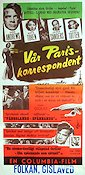 Assignment Paris 1953 poster Dana Andrews