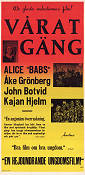 Vårat gäng 1942 Movie poster Alice Babs