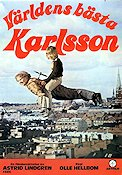 V�rldens b�sta Karlsson 1974 Movie poster Olle Hellbom