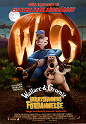 Varulvskaninens f�rbannelse 2005 Movie poster Wallace and Gromit Nick Park