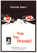 Vem var Dracula? 1975 Movie poster Christopher Lee
