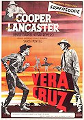 Vera Cruz 1955 Movie poster Gary Cooper