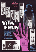 Vita frun 1962 Movie poster Karl-Arne Holmsten Arne Mattsson