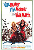 Viva Maria 1966 Movie poster Brigitte Bardot Louis Malle