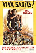 100 Rifles 1969 poster Jim Brown Tom Gries