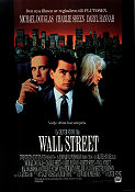 Wall Street 1987 Movie poster Michael Douglas Oliver Stone