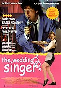 The Wedding Singer 1997 Movie poster Adam Sandler