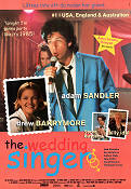 The Wedding Singer 1997 poster Adam Sandler
