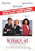 Working Girl 1988 Movie poster Harrison Ford Mike Nichols