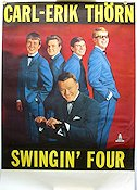 Carl-Erik Th�rn Swingin' Four Odeon Poster 70x100cm FN original