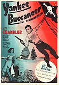 Yankee Buccaneer 1953 Movie poster Jeff Chandler