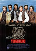 Young Guns 1988 poster Emilio Estevez Christopher Cain