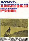 Zabriskie Point 1970 poster Mark Frechette Michelangelo Antonioni