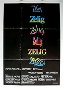 Zelig 1983 Movie poster Mia Farrow Woody Allen