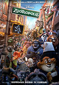 Zootopia 2016 poster Ginnifer Goodwin Byron Howard